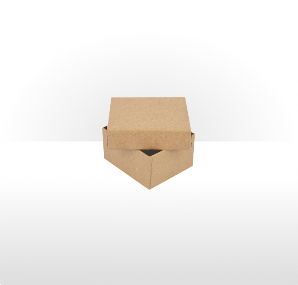 Small Kraft Paper Covered Jewellery or Gift Box 47 x 56 x 30mm