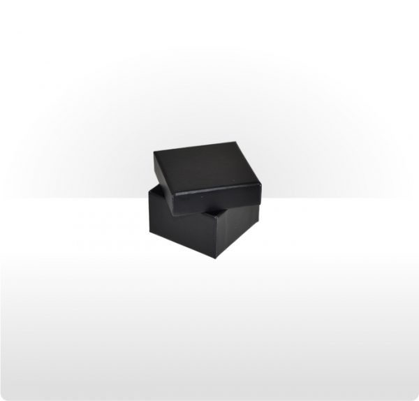 Midnight Black Two Piece Card Ring Box