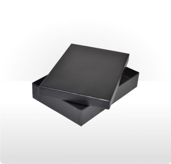 Midnight Black Two Piece Card Necklace Box
