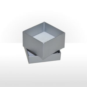 Misty Silver Two Piece Card Ring Box
