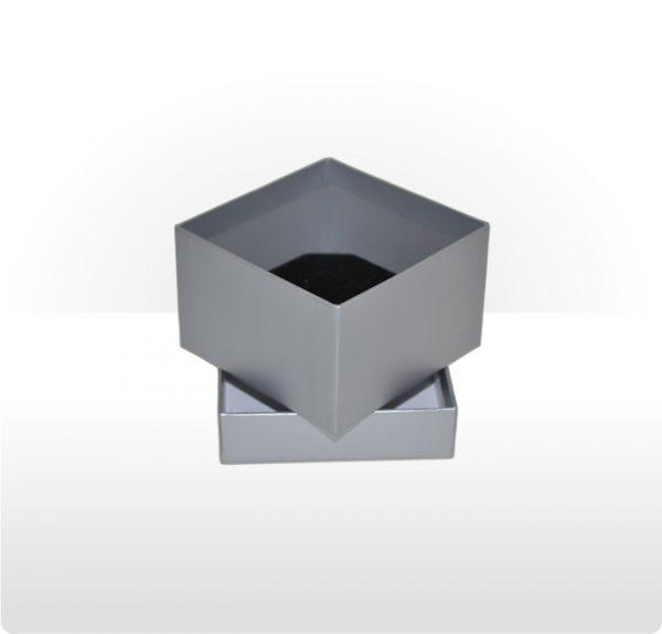 Misty Silver Two Piece Card Deep Box