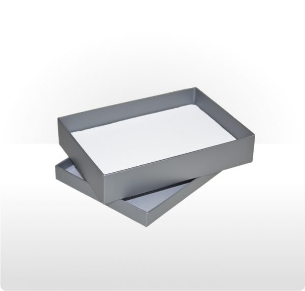 Misty Silver Two Piece Card Necklace Box