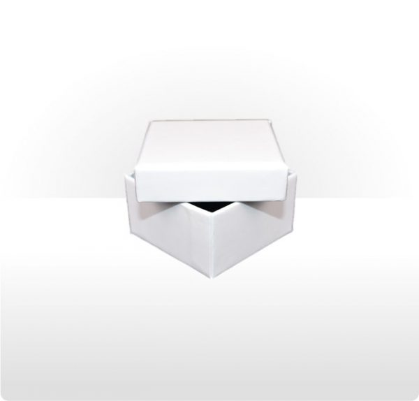 White Two Piece Card Ring Box