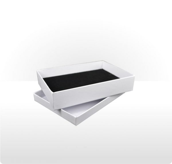 White Two Piece Card Necklace Box