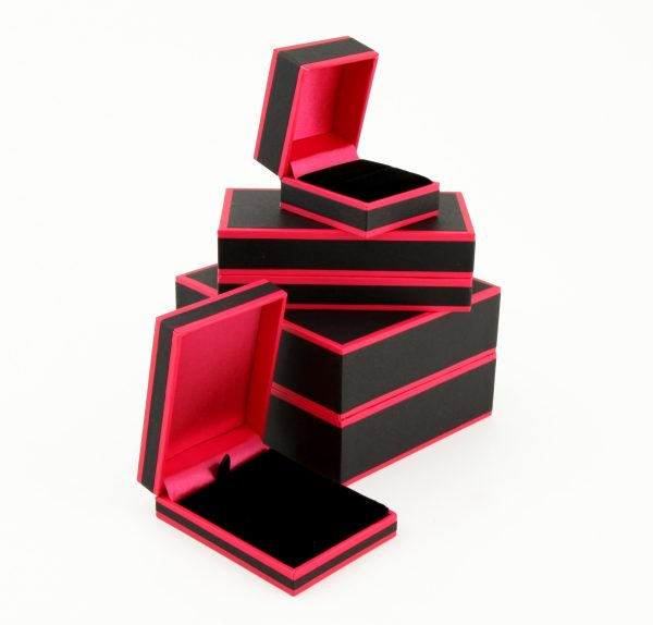 Pink and Black Earring Box