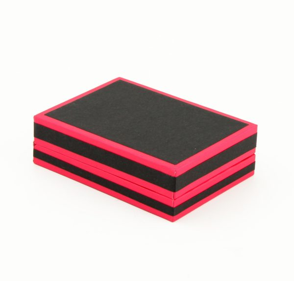 Pink and Black Small Pendant and Earring Box