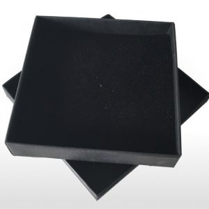 Large Black Postal Gift Box with Foam Insert
