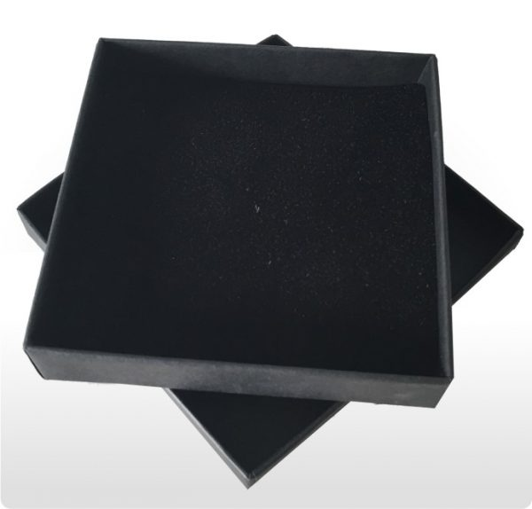 Large Black Postal Gift Box with Foam Insert
