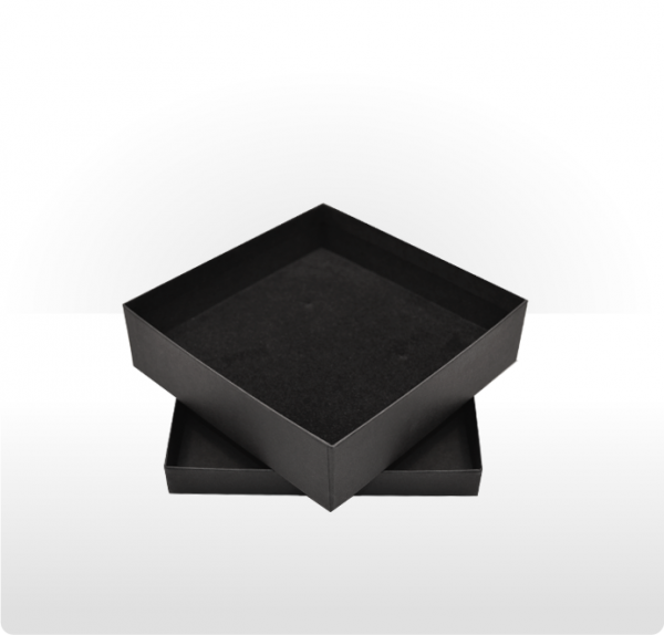 Large Black Gift Box with Double Side Foam Insert