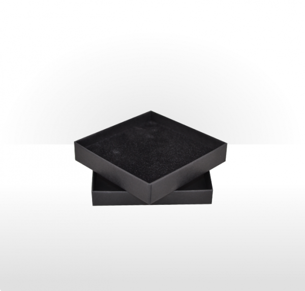 Large Black Postal Gift Box with Double Side Foam