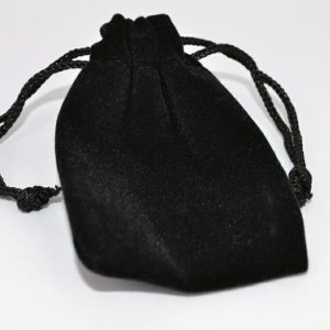Extra Small Black Double Flocked Pouch