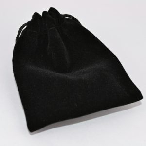 Small Black Double Flocked Pouch