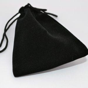 Medium Black Double Flocked Pouch
