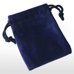 Extra Small Blue Double Flocked Pouch