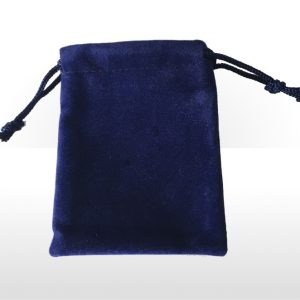 Small Blue Double Flocked Pouch