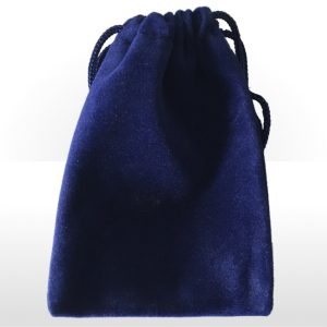 Medium Blue Double Flocked Pouch