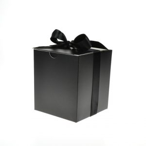 Medium Black Gift Box with Ribbon