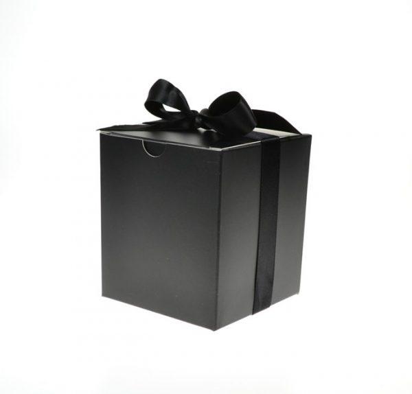 Medium Black Gift Box with Ribbon