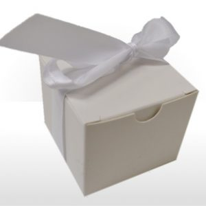 Small White Gift Box with Ribbon