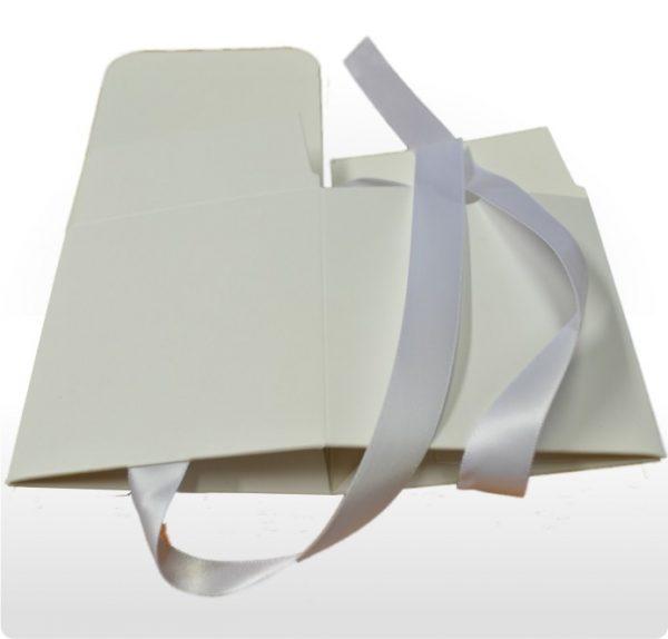 Medium White Gift Box with Ribbon