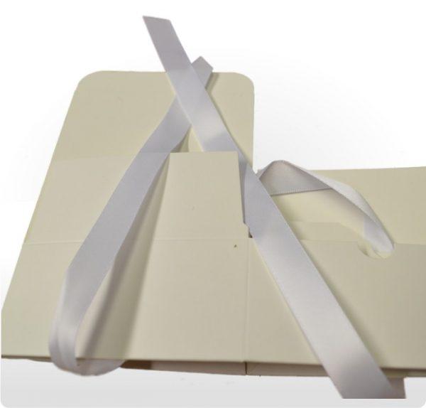 Large White Gift Box with Ribbon