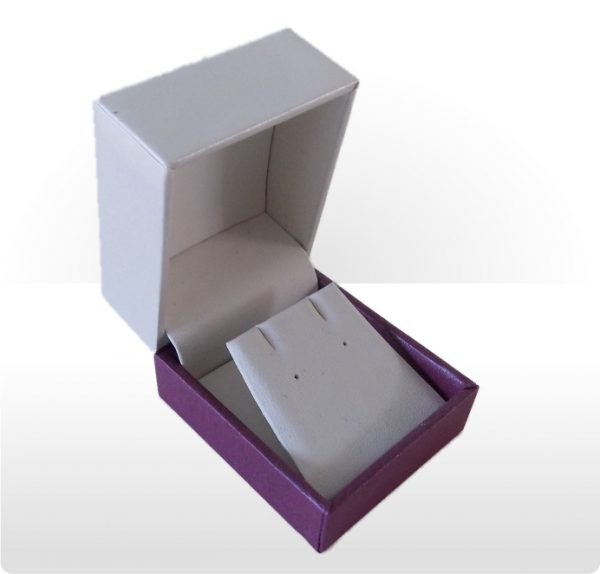 Cream and Purple Earring Box