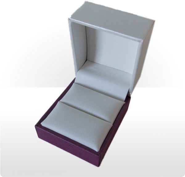 Cream and Purple Ring Box