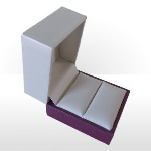 Cream and Purple Ring Box