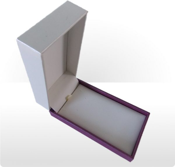 Cream and Purple Large Pendant and Earring Box