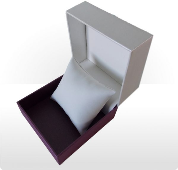 Cream and Purple Watch or Bracelet Box