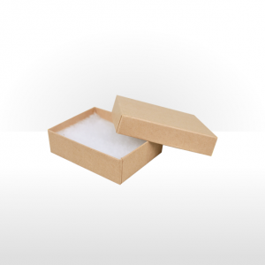 Medium Kraft Paper Covered Jewellery or Gift Box
