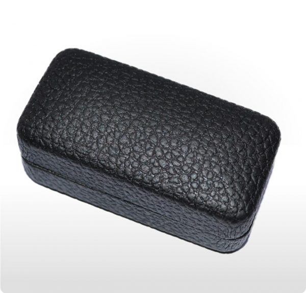 Black Leatherette Hinged Cufflink Box