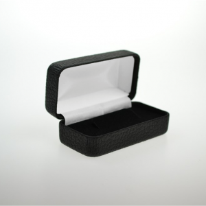 Black Leatherette Hinged Tie Bar Box