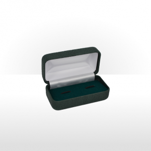 Dark Grey Hinged Cufflink Box