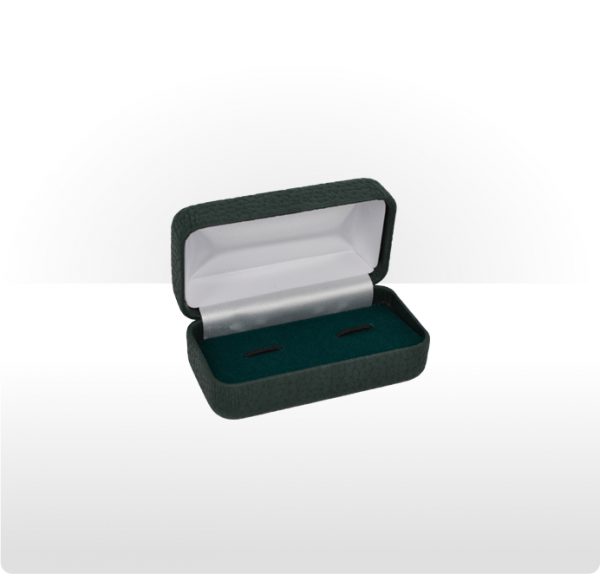 Dark Grey Hinged Cufflink Box