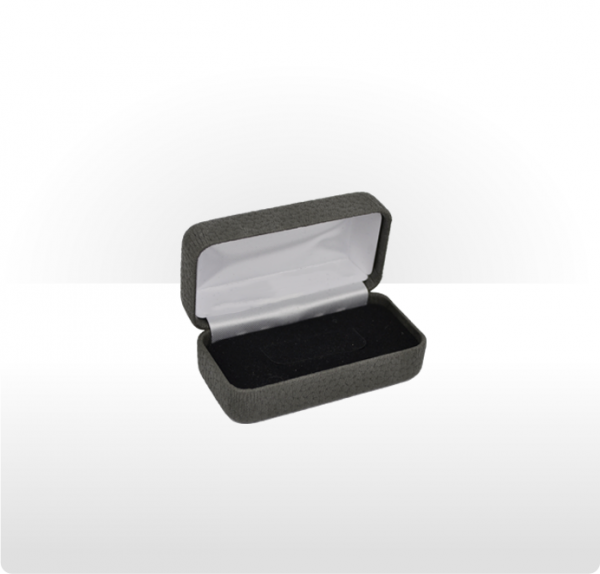 Dark Grey Hinged Tie Bar Box