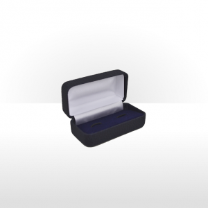 Navy Blue Hinged Cufflink Box