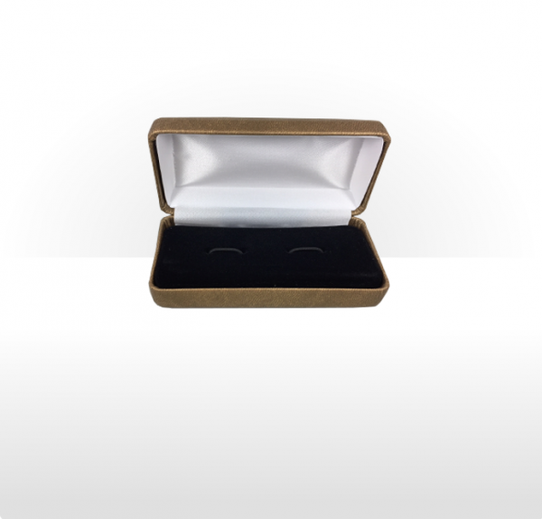 Large Gold Cufflink Box