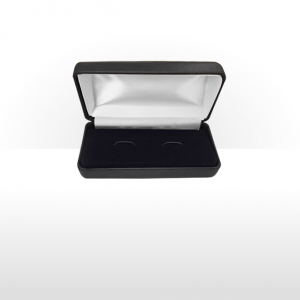 Large Dark Grey Hinged Cufflink Box
