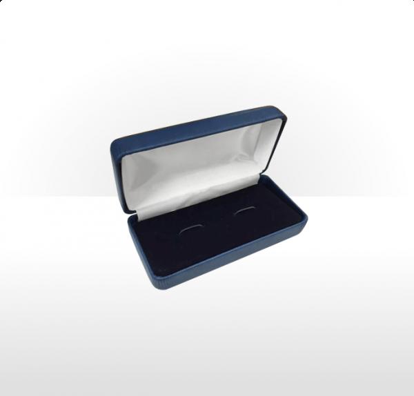 Large Blue Cufflink Box