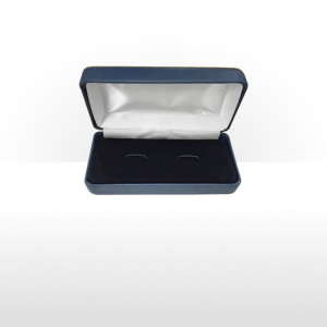 Large Blue Cufflink Box