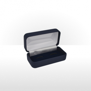Midnight Blue Hinged Cufflink Box