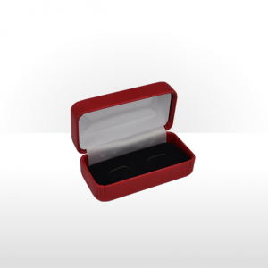 Ruby Red Hinged Cufflink Box