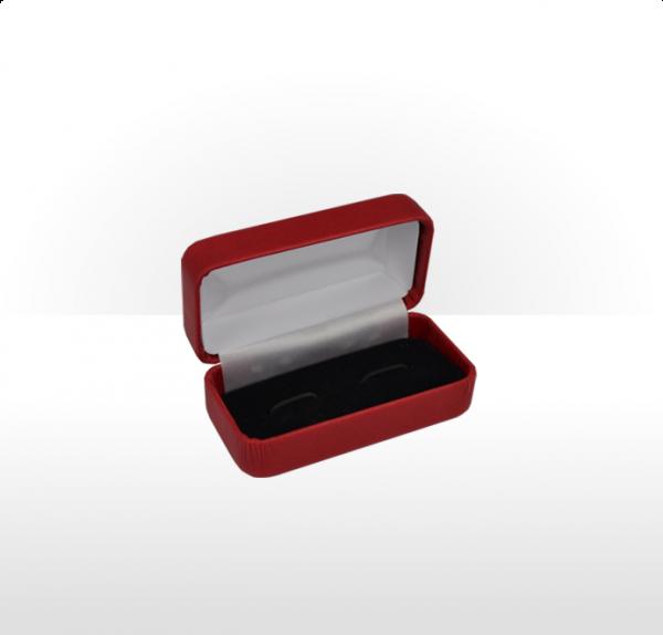 Ruby Red Hinged Cufflink Box