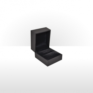Black Soft Touch Ring Box