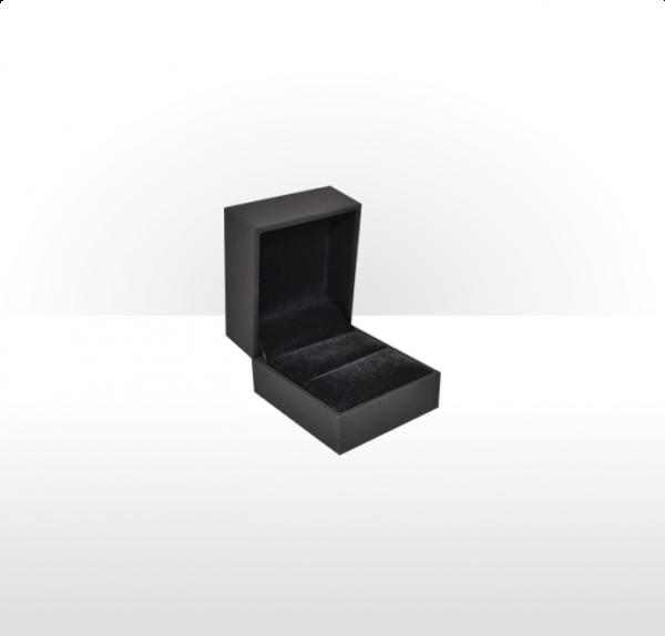 Black Soft Touch Ring Box
