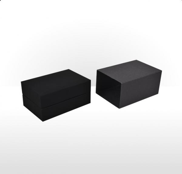 Black Soft Touch Cufflink Box