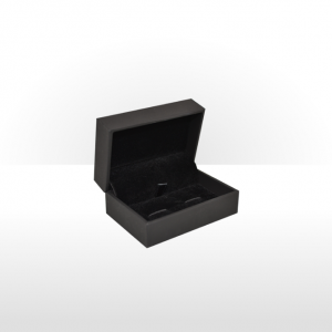 Black Soft Touch Cufflink Box