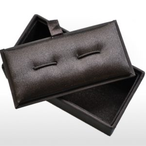 Black Postal Flip Top Cufflink Box