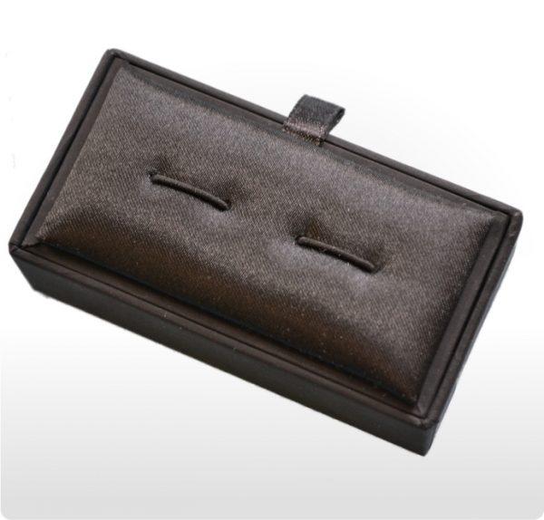 Black Postal Flip Top Cufflink Box